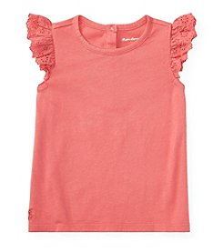 Ralph Lauren® Baby Girls' Solid Tee