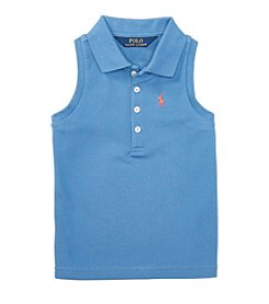 Polo Ralph Lauren® Girls' 5-6X Mesh Polo Top