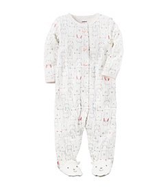 Carter's® Baby Girls' Sketch Bunny Footie