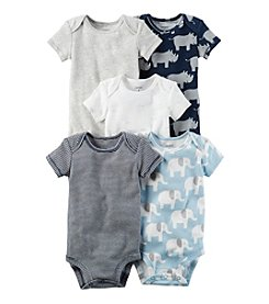 Carter's® Baby Boys' 5-Pack Rhino Bodysuits