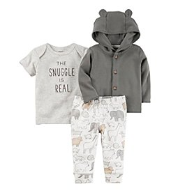 Carter's® Baby 3-Piece Bear Hoodie Set