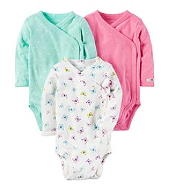 Carter's® Baby Girls' 3-Pack Side Snap Bodysuits