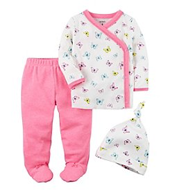 Carter's® Baby Girls' 3-Piece Floral Footed Set