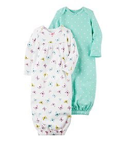 Carter's® Baby Girls' 2-Piece Floral Gown Set