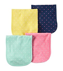 Carter's® Baby Girls' 4-Pack Burp Cloths