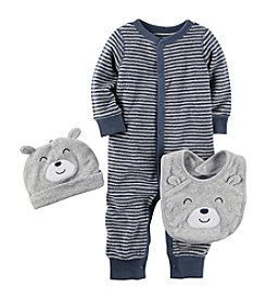 Carter's® Baby Boys' 3-Piece Bodysuit And Bib Set
