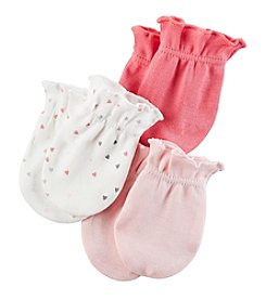 Carter's® Baby Girls' 3-Pack Mittens Set