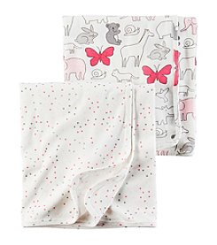 Carter's® Baby Girls' 2-Pack Swaddle Blankets