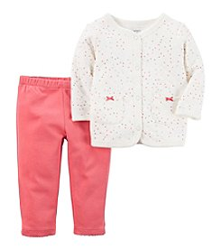 Carter's® Baby Girls' 2-Piece Heart Print Cardigan Set