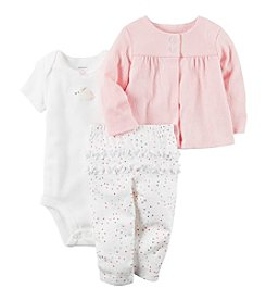 Carter's® Baby Girls' 3-Piece Textured Cardigan Set