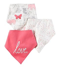 Carter's Baby Girls' 3-Pack Bandana Bibs