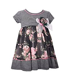 Bonnie Jean® Baby Girls' Striped Floral Dress