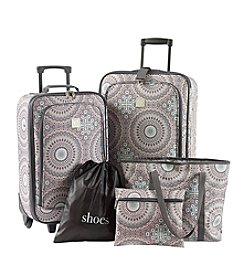 Travel Quarters Geo Print 5-Pc. 2-wheeled Luggage Set