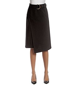 Calvin Klein Wrap Style Belted Skirt