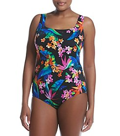 Studio Works® Plus Size Cross Back Printed One Piece
