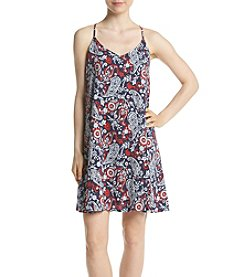 Eyeshadow® Spagetti Strap Paisley Swing Dress
