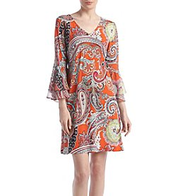 Prelude® Paisley Bell-Sleeve Dress