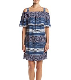 Luxology Mixed Print Flounce Dress