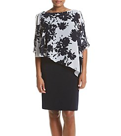 Connected® Plus Size Floral Cape Dress