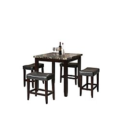 Acme Ainsely 5-Piece Pack Counter Height Dining Set