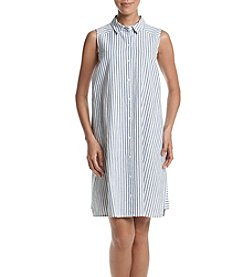 Jessica Howard® Striped Shirt Dress