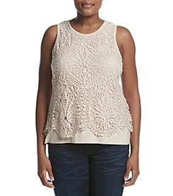 Democracy Plus Size Crochet Popover Tank