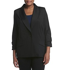 Kasper® Plus Size One Button Shawl Jacket