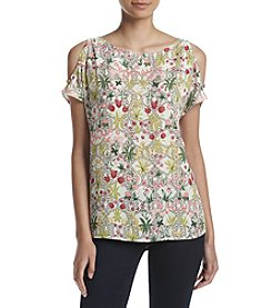 Nine West® Meadow Cold Shoulder Top