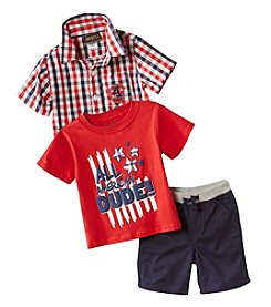 Nannette® Baby Boys' All American Dude 3-Piece Set