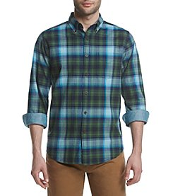 John Bartlett Consensus Men's Herringbone Long Sleeve Button Down