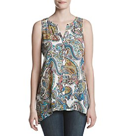 Cupio Button Front Tunic Top