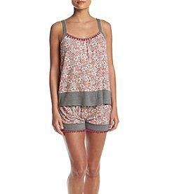 Layla® Tank And Boxer Knit Pajama Set