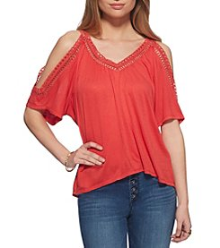 Jessica Simpson Cold-Shoulder Top