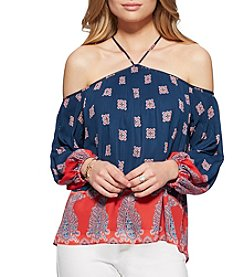 Jessica Simpson Halter Neck Off-Shoulder Top