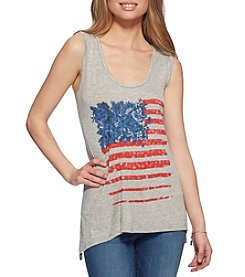 Jessica Simpson Flag Sharkbite Tank