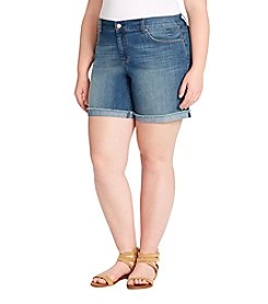 Jessica Simpson Plus Size Mika Best Friend Midi Shorts