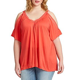 Jessica Simpson Plus Size Annalee Cold Shoulder Top