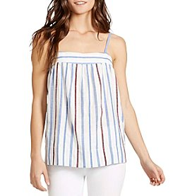 William Rast® Moore Spaghetti Strap Striped Top