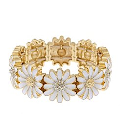 Gloria Vanderbilt™ Daisy Wide Stretch Bracelet