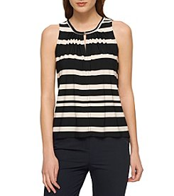 Tommy Hilfiger® Stripe Keyhole Knit Top