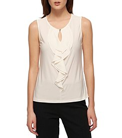Tommy Hilfiger® Ruffle Front Blouse