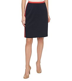 Tommy Hilfiger® Stripe Trim Skirt