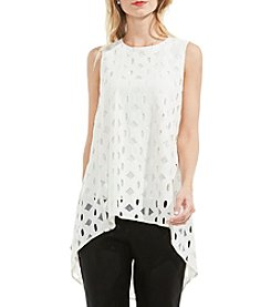 Vince Camuto® High-Low Hem Eyelet Blouse