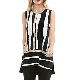 Vince Camuto® Sleeveless Front Stripe Blouse