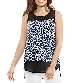 Vince Camuto® Chiffon Mix Top