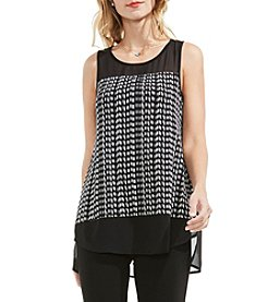 Vince Camuto® Chiffon Mix Media Top
