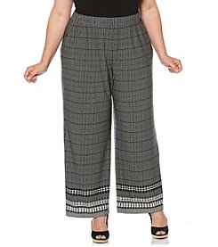 Rafaella® Plus Size Printed Pants
