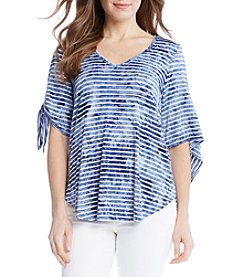 Karen Kane® V Neck Tie Sleeve Top