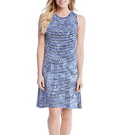 Karen Kane® Tie Dye Stripe Halter Dress