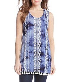 Karen Kane® Embroidered Tassel Tunic Top